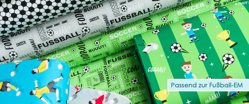Themenkategorie Fussball - Stoffe passend zur EM 2016!