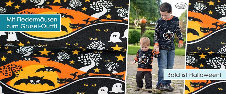 Bald ist Halloween! Kinderstoffe uvm. im Königreich der Stoffe online bestellen!