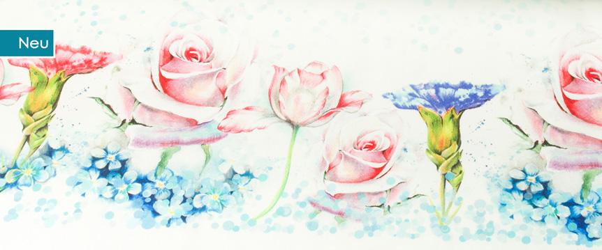 KaZuMi Flowers Borduerenstoff