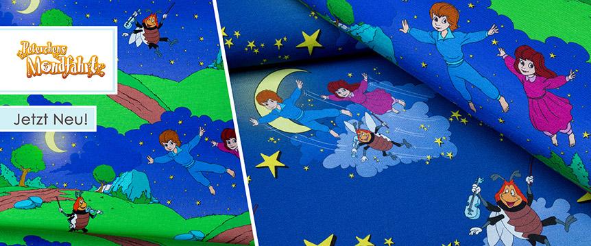 Jersey mit den Figuren aus dem Märchen Peterchens Mondfahrt