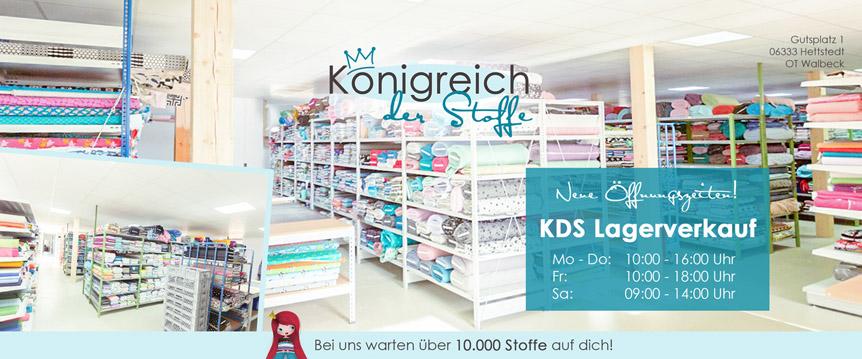 Der KDS Lagerverkauf findet nun 2 mal wöchentlich statt! Bei uns kannst du aus über 10000 Stoffen wählen.