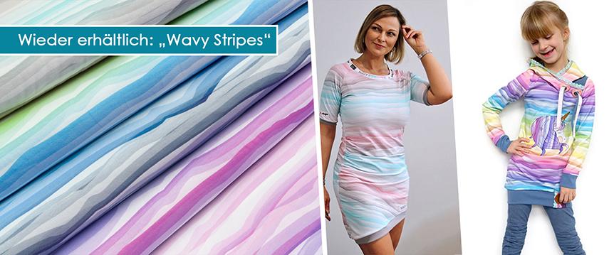 Jersey Swafing Wavy Stripes