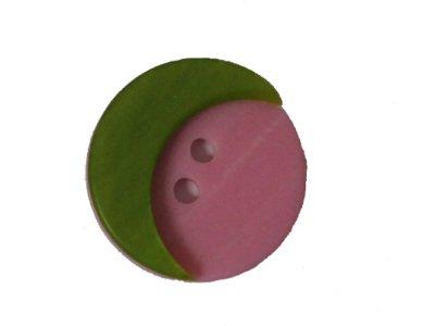 Knopf Mond 32mm rosa