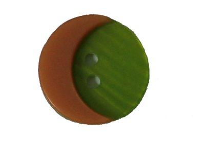 Knopf Mond 32mm grün