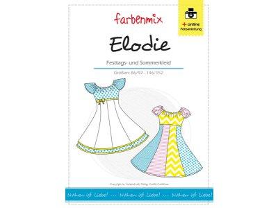 Papierschnittmuster Farbenmix Festtags-und Sommerkleid ELODIE - Mädchen