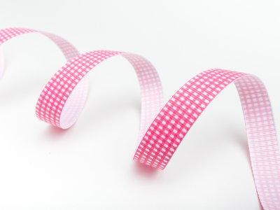 Riley Blake Ripsband Vichy pink 16mm