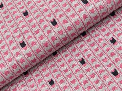 Viskose Slub-Jersey Swafing - Milli - grau/rosa