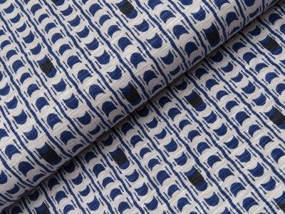 Viskose Slub-Jersey Swafing - Milli - grau/dunkles blau