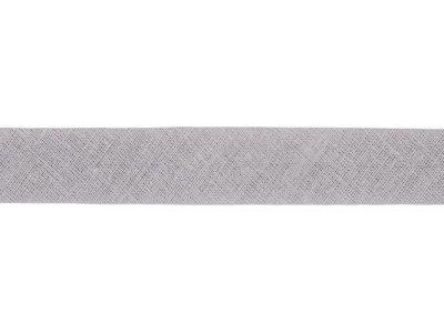 Hochwertiges Schrägband Baumwolle gefalzt 20 mm - uni grau