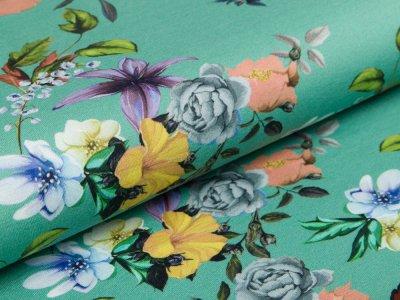 Grün Rosen Schmetterling Jersey