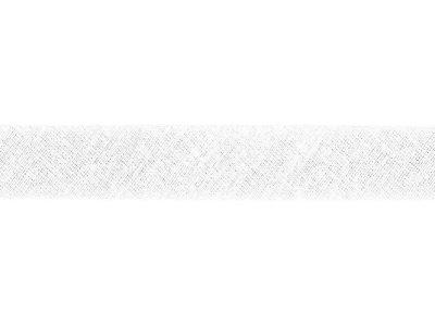Hochwertiges Schrägband Baumwolle gefalzt 20 mm - uni weiß