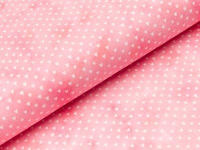 Jersey Swafing Mini Summer - kleine Herzchen auf Aquarell - rosa