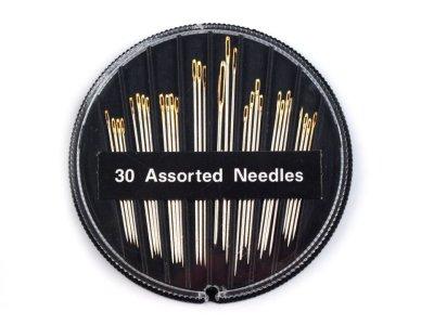 Nadeln Sharps mit vergoldetem Nadelöhr 30 Stück/Pkg