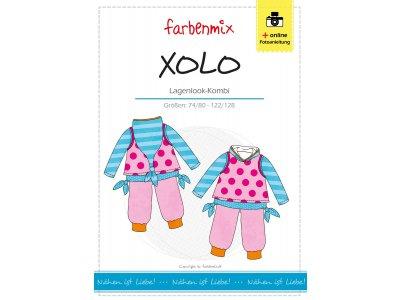 Papierschnittmuster Farbenmix Lagenlook-Kombi XOLO - Kinder