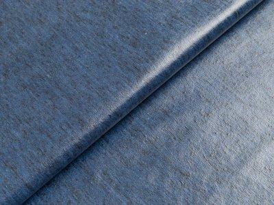 Beschichteter Jersey Doris Swafing - meliert dunkles blau