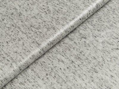 Beschichteter Jersey Doris Swafing - meliert grau