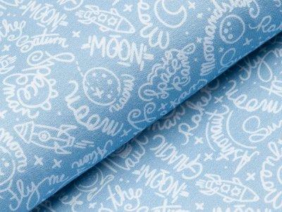 Sweat Swafing Mauna Kea by Lila-Lotta - Schriftzüge und verschiedene Motive - helles blau