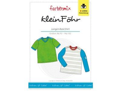 Papierschnittmuster Farbenmix Basic-Shirt kleinFÖHR - Jungs