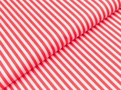 Gew. Baumwollstoff Swafing designed by Steinbeck - schmale Streifen - rosa/rot