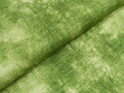 Viskose Jersey Swafing Phinchen - Batik auf Jeansoptik - grün