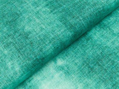 Viskose Jersey Swafing Phinchen - Batik auf Jeansoptik - mint