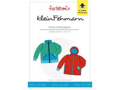 Papierschnittmuster Farbenmix Fleece-/Softshelljacke kleinFEHMARN - Kinder