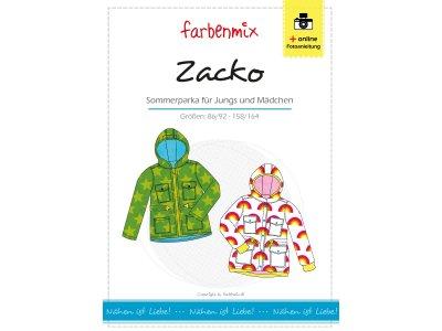 Papierschnittmuster Farbenmix Sommerparka ZACKO - Kinder