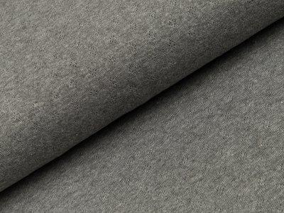 Baumwolle-Feinstrick - Pointoille Lochmuster - meliert dunkles grau