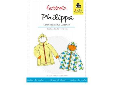 Papierschnittmuster Farbenmix Softshelljacke PHILIPPA - Mädchen
