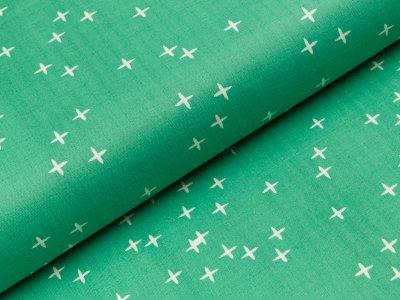 Double Gauze Swafing Mod Basics 3 by birch fabrics - kleine Kreuze - grün