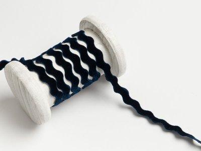 Bogenlitze velour/Samtband 9 mm - dunkles blau