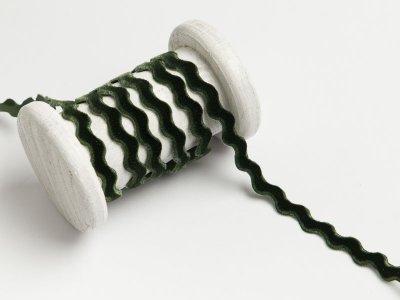 Bogenlitze velour/Samtband 9 mm - dunkles grün