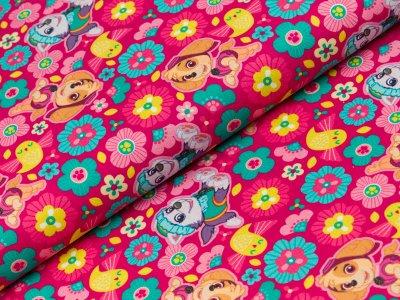 Webware Swafing Paw Patrol - Skye und Blumen - pink