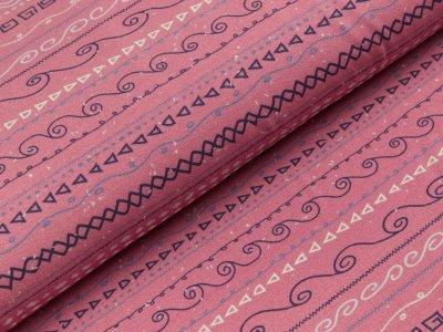 Jersey Swafing Estelle - Wellenlinien und kleine Dreiecke - rosa