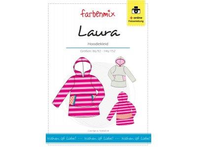 Papierschnittmuster Farbenmix Hoodiekleid LAURA - Mädchen