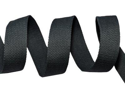 Gurtband Baumwolle 5 Meter Rolle - 30 mm - uni schwarz