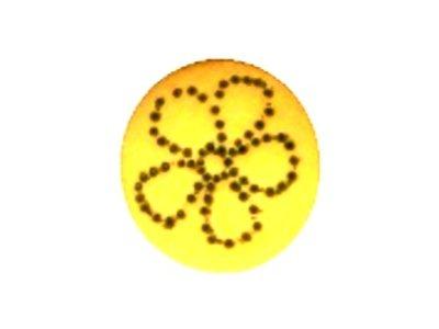 Kinderknopf Blümchen gelb 15mm
