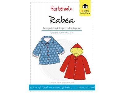 Papierschnittmuster Farbenmix Retrojacke RABEA - Mädchen