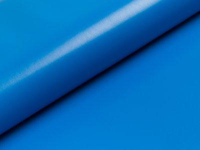 Elastisches Kunstleder - uni blau