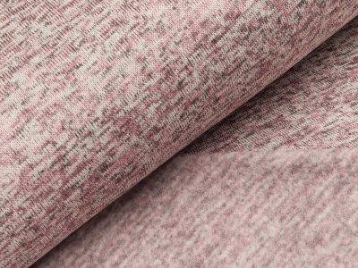 Angerauter Strickstoff - meliert helles rosa
