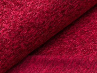 Angerauter Strickstoff - meliert rot