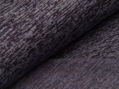 Angerauter Strickstoff - meliert dunkles lila