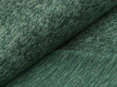 Angerauter Strickstoff - meliert grün
