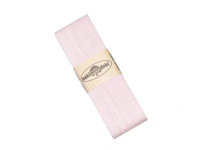 Jersey Schrägband Oaki doki gefalzt 20 mm x 3 m - puderrosa