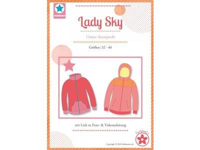 Schnittmuster Lady Sky Unisex Sweatjacke