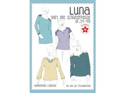 Schnittmuster Luna - Passenshirt für Damen