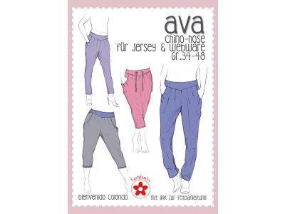 Schnittmuster Ava - Chino-Hose für Damen
