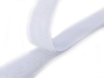 Klettband zum Aufnähen Flauschband & Hakenband ca. 20 mm - weiß