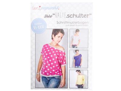 """Papier-Schnittmuster Lenipepunkt - Shirt """"Kalte Schulter"""" - Damen"""