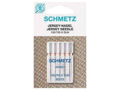 Schmetz 5 Jersey-Nähmaschinennadeln 130/705 H-SUK ST. 80/12 Kugel